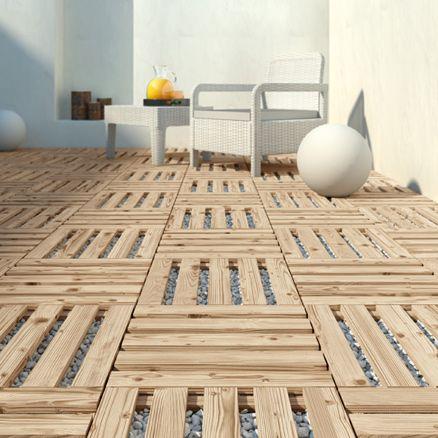 Suelos de madera para exterior leroy merlin terrazas - Faux parquet leroy merlin ...