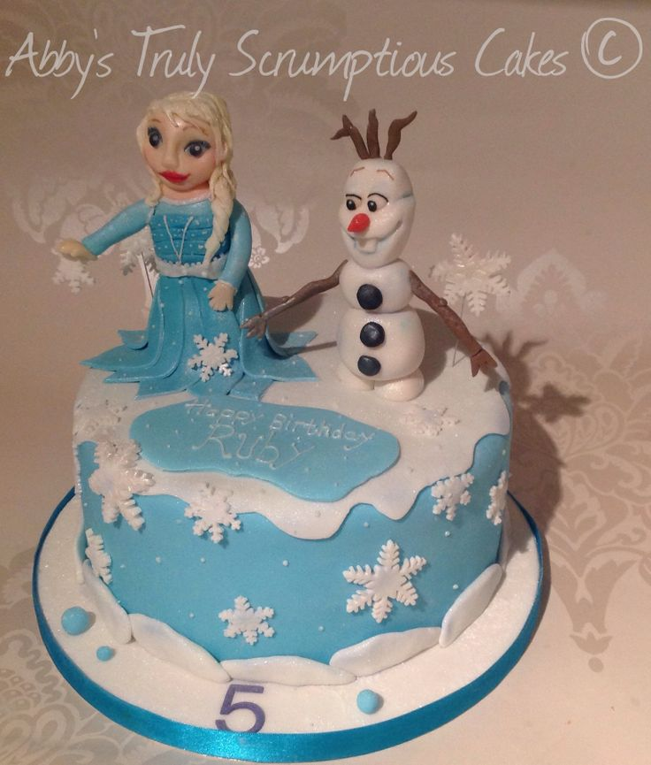 Disney Frozen Cake Character Children Cakes Pinterest