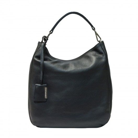 GIANNI CHIARINI BAG BS3251 - Black - Large leather shoulder bag. Zipped main closure, leather adjustable strap, inside zippered pocket. Made in Italy. #giannichiarini #handbag #madeinitalybag #madeinitaly