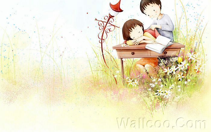 Kim Jong Bok Illustrations(Vol.04) : Sweet Puppy Love   - Puppy Love - Sweet Lovers and Cartoon Couples pictures 7