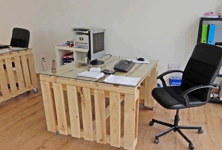 palette diy upcycling desk office