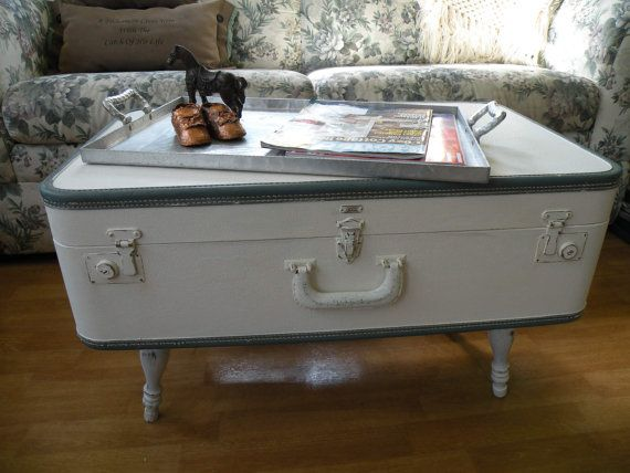 Suitcase Table Mid century table coffee by VintageJunkGypsyShop