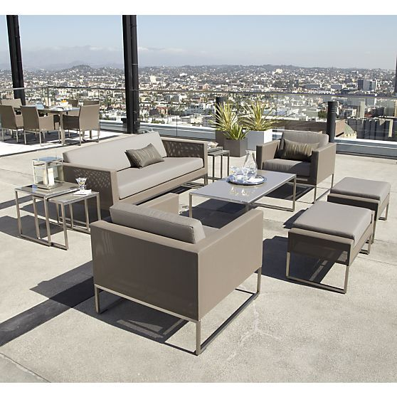 Dune Sofa With Sunbrella Cushions Extreme Backyard Pinterest Outdoor Furniture And