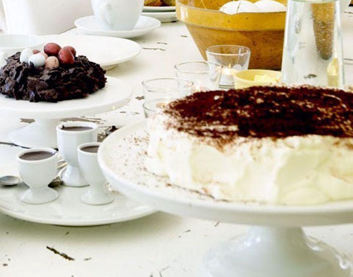 Lækker lagkage med chokolade og appelsin