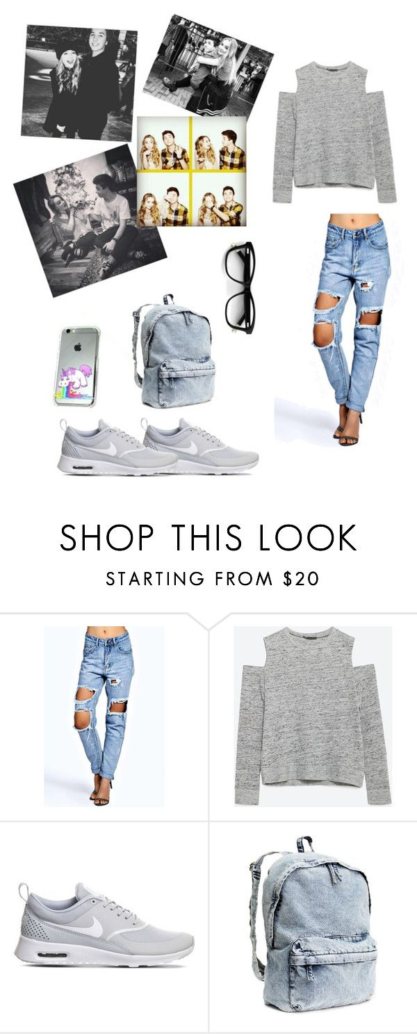 """""""hanging out with Sabrina Carpenter and Bradley- Steven Perry"""" by chrisohoougus ❤ liked on Polyvore featuring Zara, NIKE and H&M"""