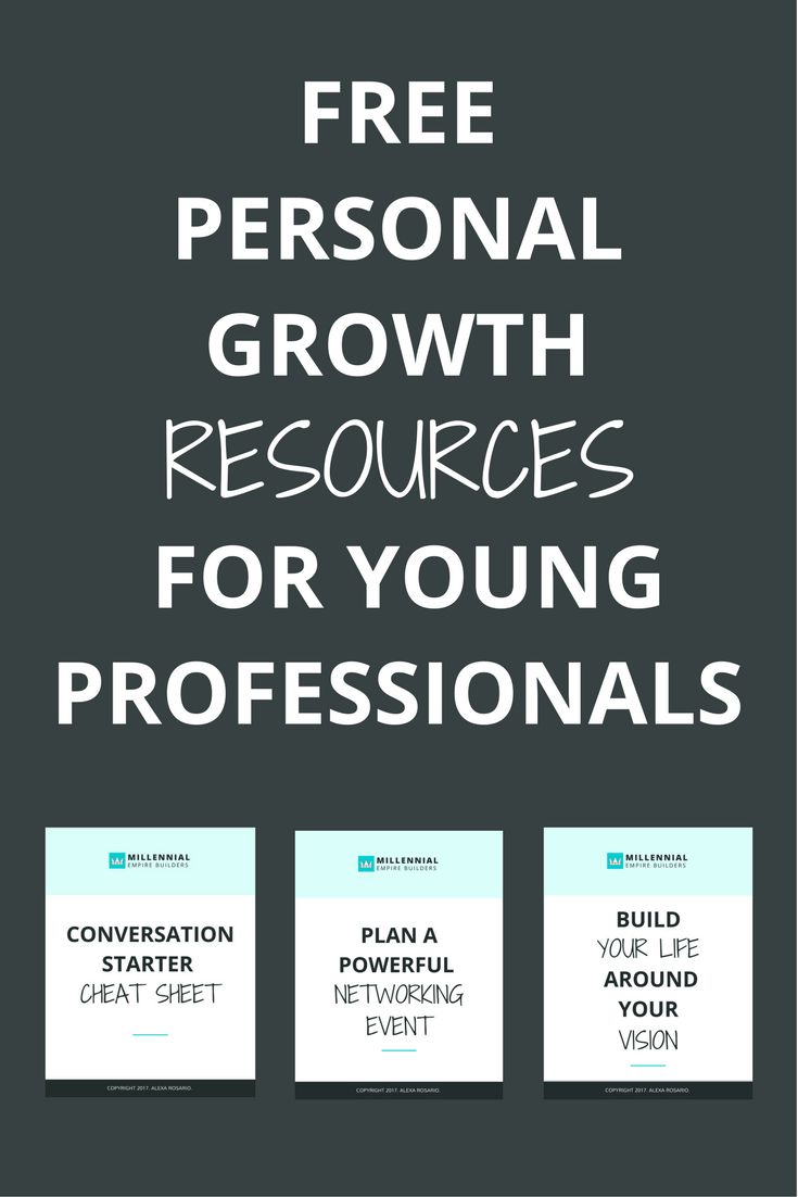 Get access to dozens of free downloads, workbooks, cheat sheets, and guides to help millennials and young professionals like you in your personal growth journey.