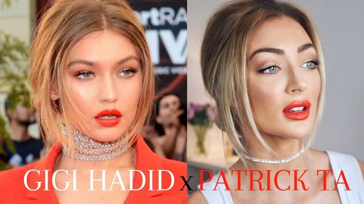 GIGI HADID x PATRICK TA MMAs 2016 Makeup & Hair   Martha Murray