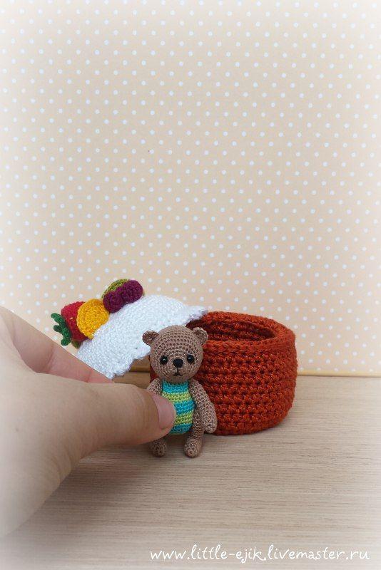 amigurumi, miniature, bear, teddy, crochet, toys, toy, mini, амигуруми, вязаные игрушки, вязание, игрушка, вязаная, мишки, тедди, медвежонок, медведь, мишутка, миниатюра, миниатюрный, tiny, пирожное, сладости, торт, сладкое, сладкий, sweet, sweety, fruits