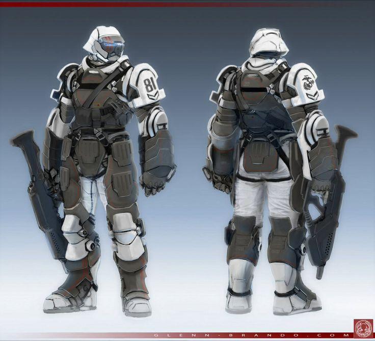 Military spec ops snow armor | Armor - Sci-Fi, futuristic ...
