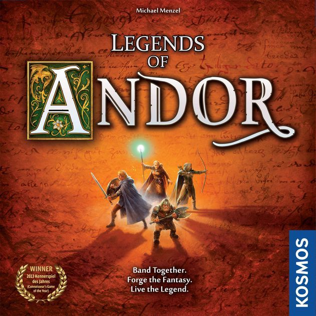 Game description from the publisher:  Legends of Andor is a cooperative adventure board game for two to four players in which a band of heroes must work together to defend a fantasy realm from invading hordes. To secure Andor's borders, the heroes will embark on dangerous quests over the course of five unique scenarios (as well as a final scenario created by the players themselves). But as the clever game system keeps creatures on the march toward the castle, the players must balance thei...