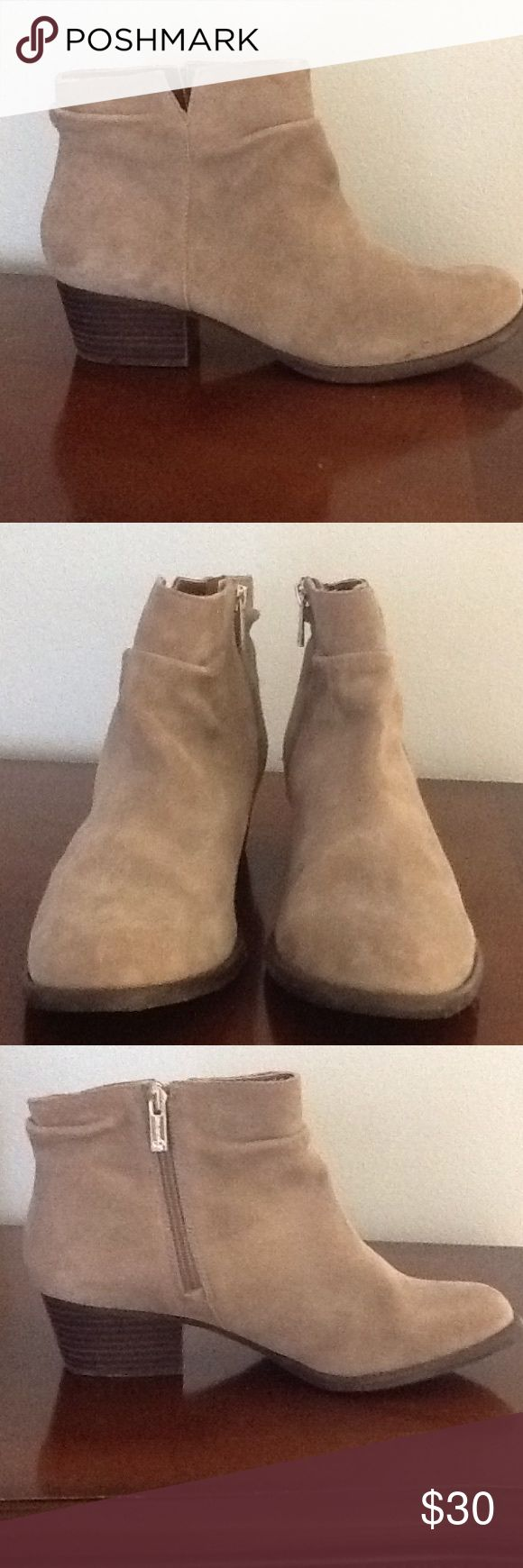 Jessica Simpson suede boots Jessica Simpson suede tan boots.  Worn twice in good condition Jessica Simpson Shoes Ankle Boots & Booties