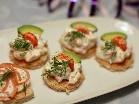Nytårsforret: 4 slags kanapeer med fisk og skaldyr | Ellevild Madblog