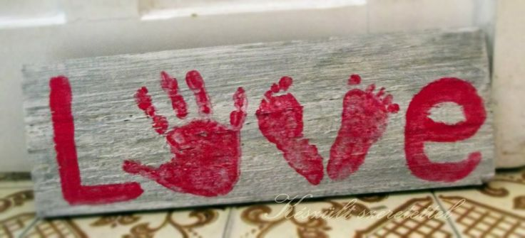 baby legs or hand love diy