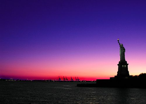 The symbol of New York City: Lady Liberty