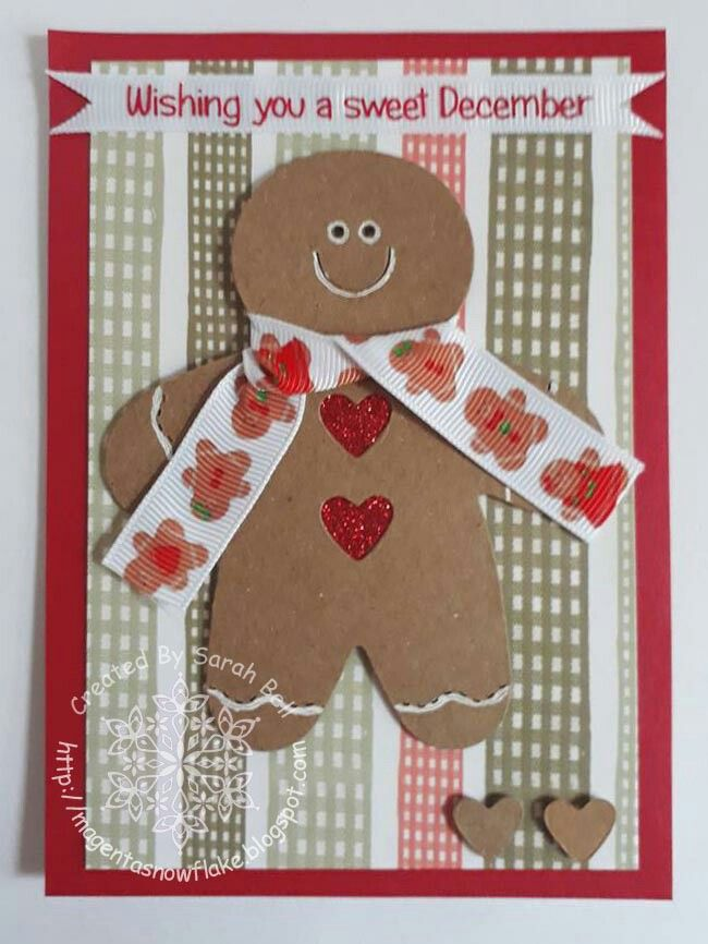 Designed by Sarah Bell using Gingerbreads Ribbon by Crafty Ribbons and Sizzix die cut