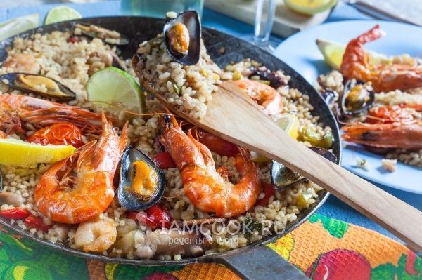 Фото паэльи с морепродуктами