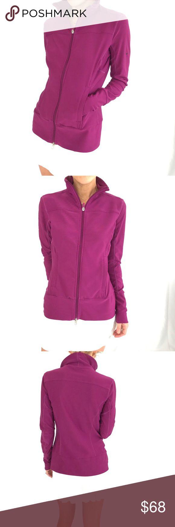 Nike purple zip up jacket Nike purple zip up jacket.  Like new condition. Nike Jackets & Coats
