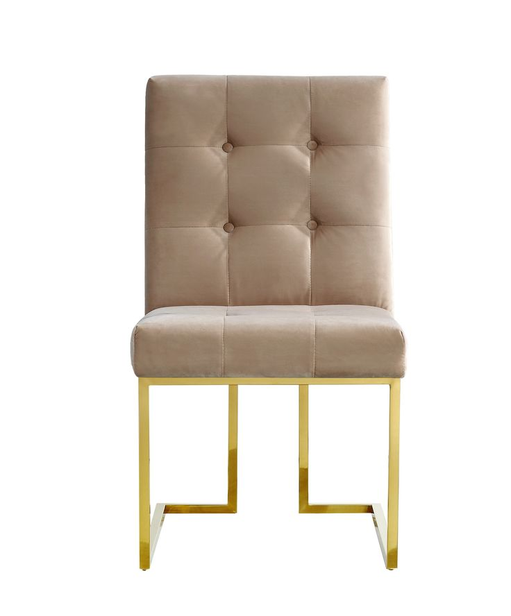 Pierre Beige Velvet Dining Chair - Set of 2