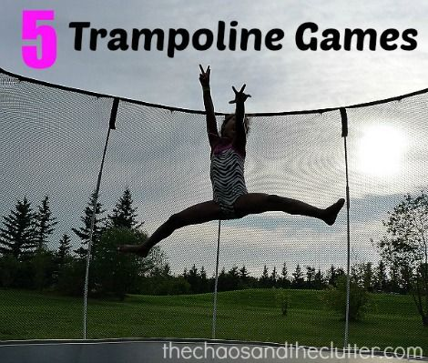 5 games and 5 bonus ideas to make your backyard trampoline even more fun!