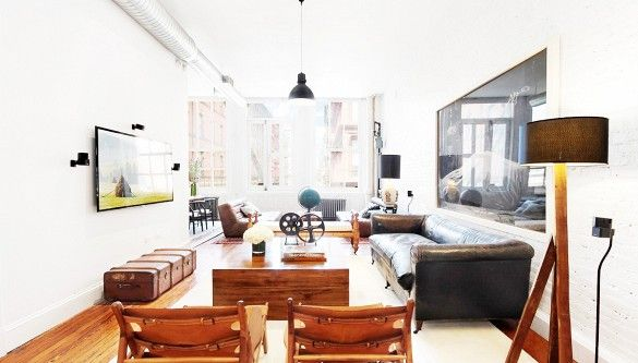 Tour Jonah Hill's Perfectly Decorated SoHo Loft via @domainehome