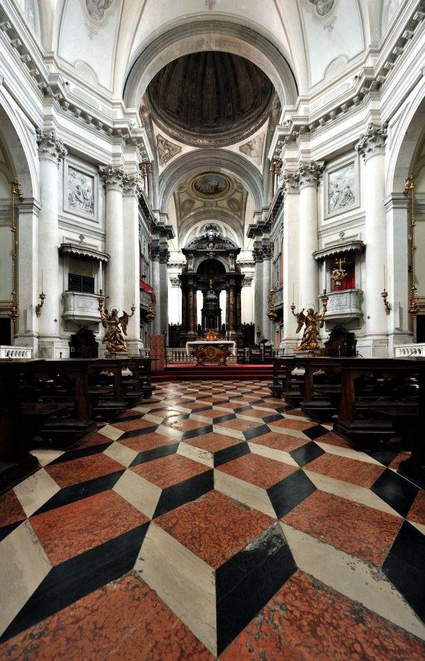 Santa Maria del Rosario church in Venice with D effect floor tiles