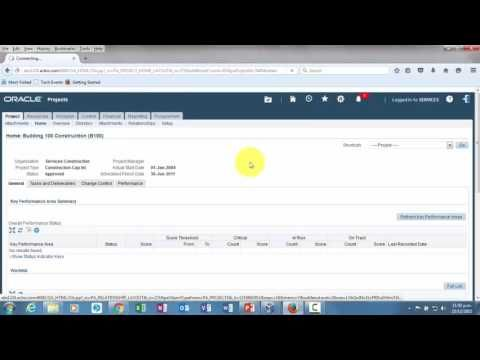 On YouTube: Project Status Reports in Oracle Project Management