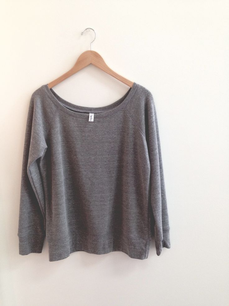 Off-the-shoulder flashdance sweater. Cozy & simple. http://t-shirt.ca/sweatshirts/b7501-triblend-sweatshirt/