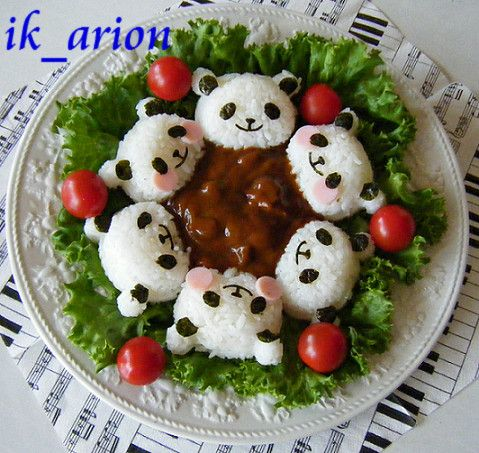 panda curry ♥ Bento
