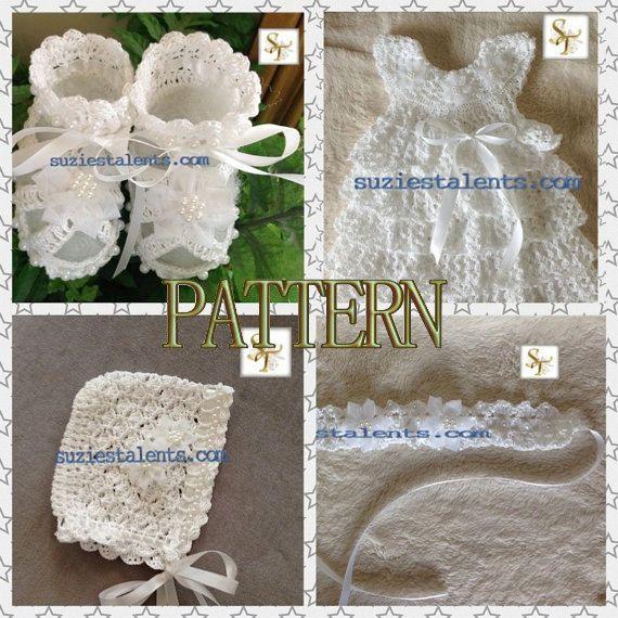 PATTERN PT074  Crochet Baby Christening Dress by PatternsDesigner, $30.00
