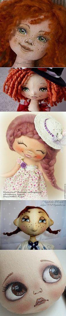 Личико для куклы, варианты...