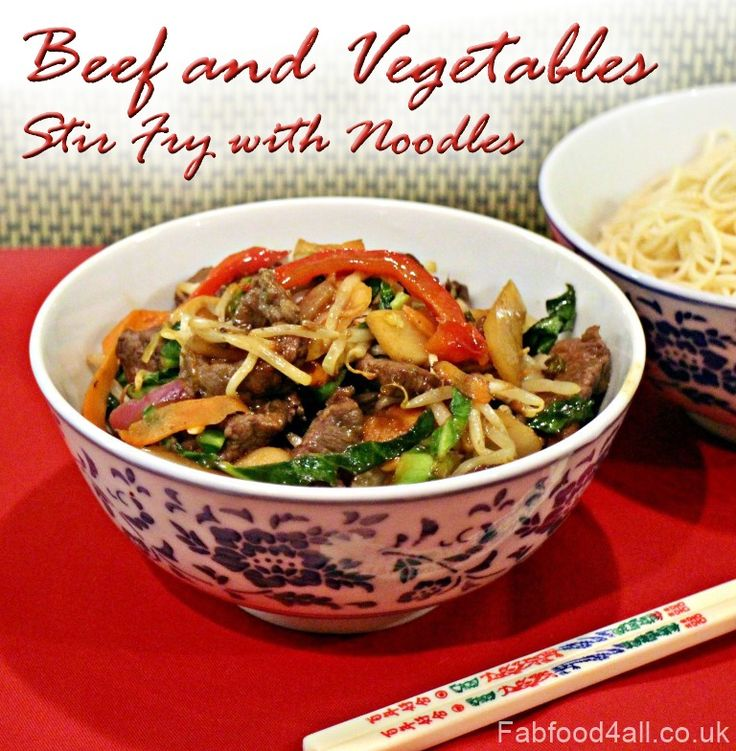 Beef and Vegetables Stir Fry with Noodles is a great dish to make in your Actifry Express instead of ordering it from a takeaway, healthier & lower in fat!
