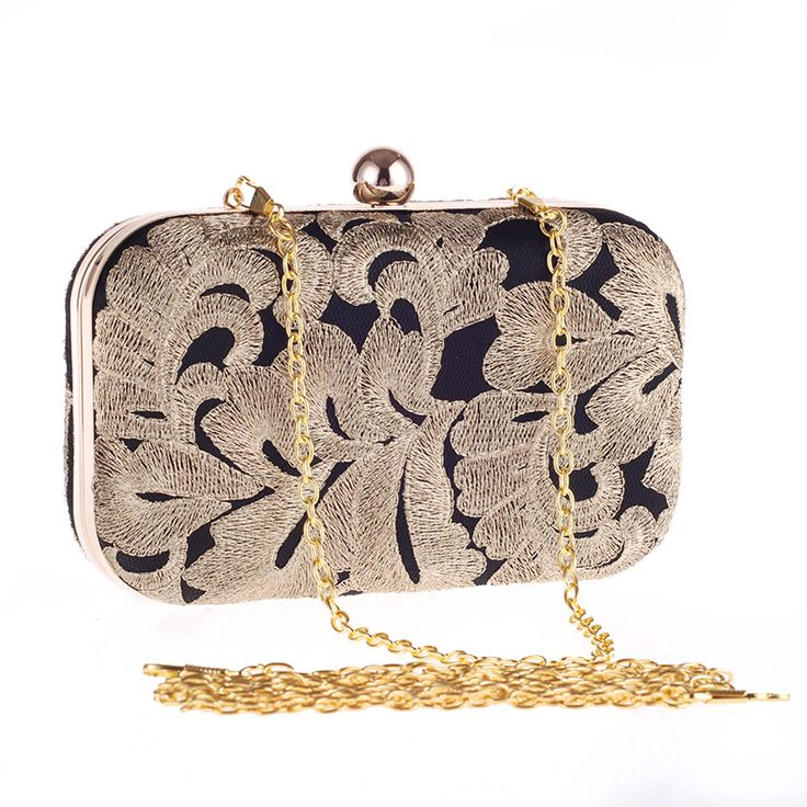 New arrival ladies gold evening bag crystal clutch chain bags high quality diamond wedding bags free shipping flower clutch  #eveningclutch #miniclutch #clutch #eveningbag