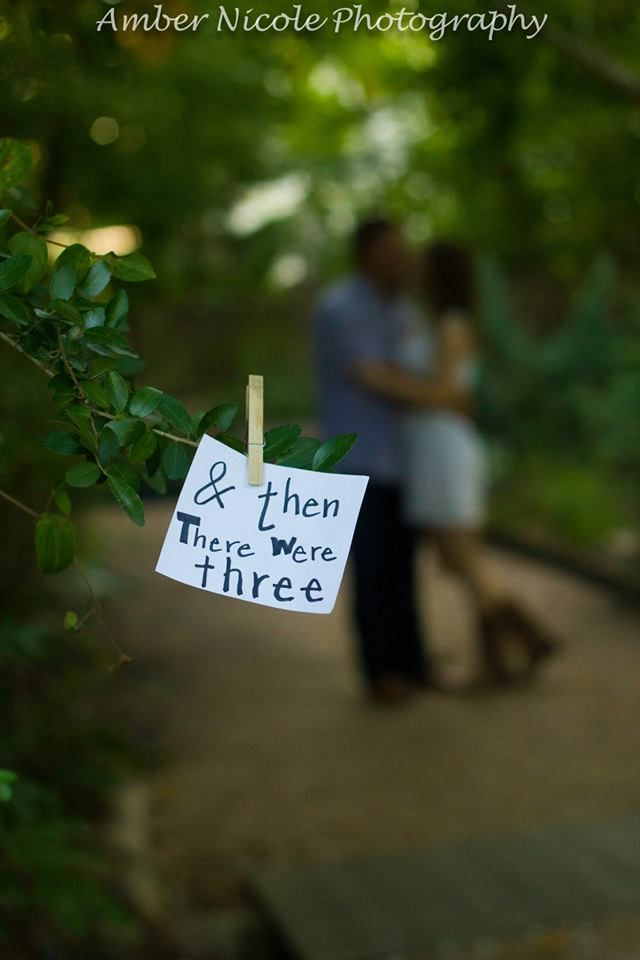 A Pinterest idea that turned out to be very cute for our Pregnancy Announcement Photoshoot by Amber Nicole Photography (Conroe, TX).