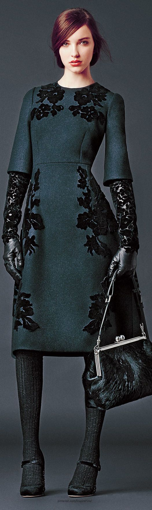 #Modest doesn't mean frumpy. #DressingWithDignity www.ColleenHammond.com Dolce & Gabbana