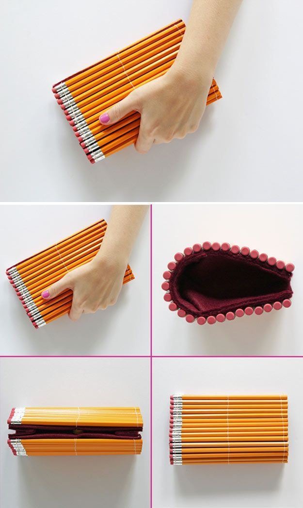Check out 14 DIY Back to School Supplies For All Ages | DIY Pencil Clutch by DIY Ready at http://diyready.com/diy-back-to-school-supplies/