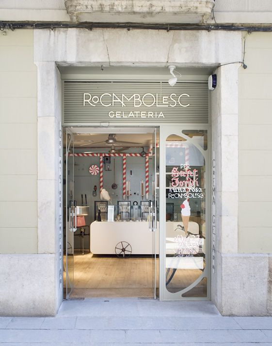 great store front at Rocambolesc Gelateria / Girona