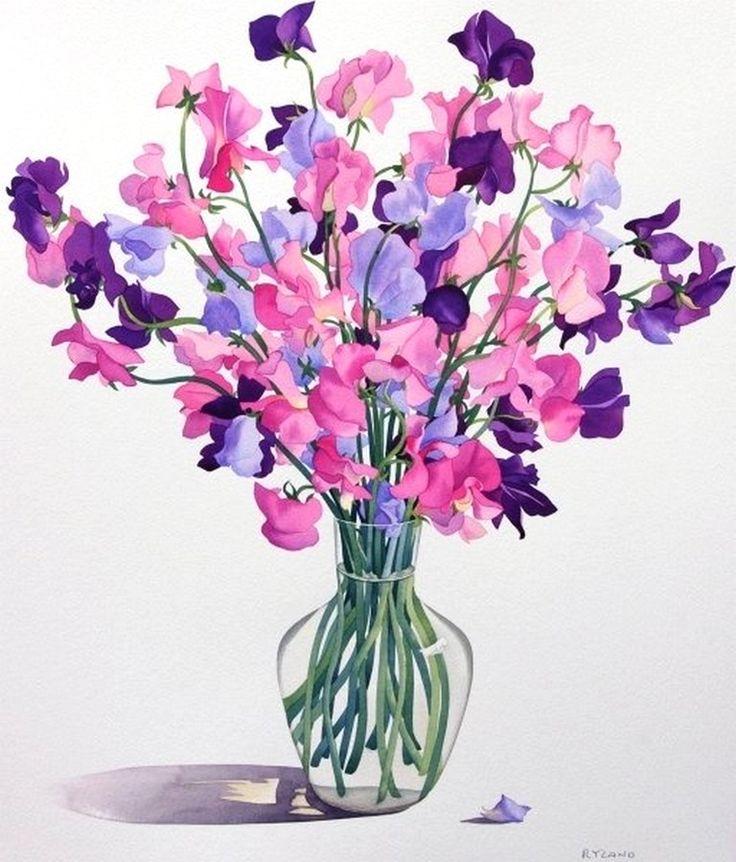 Christopher Ryland SBA (b.1951) — Sweetpeas, 2007  (786x900)