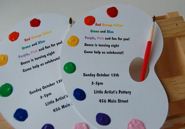 44 best Theme Art Party images on Pinterest Birthdays Birthday