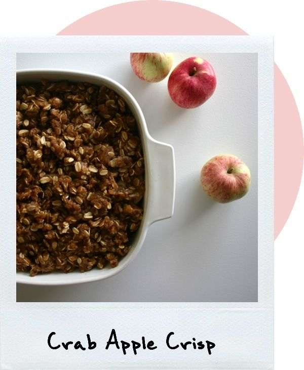 Crab apple crisp. This recipe is great! I've used it a couple of times with our crab apples and it is delicious!