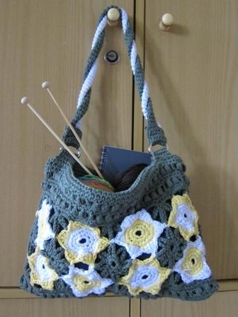 easy crochet bag for knitter
