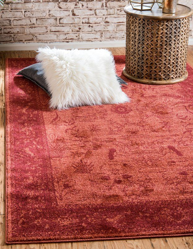 Shailene Rust Red Area Rug With Images Clearance Rugs Rugs On