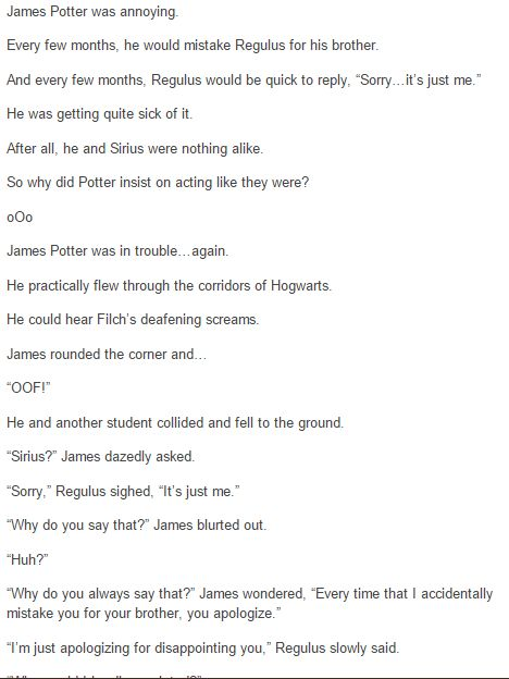 the marauders - james and regulus part 3