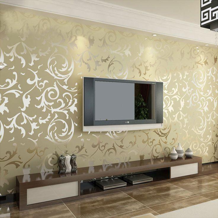 Terciopelo de lujo victoriano cl sico papel pintado pared - Papel pintado decoracion paredes ...