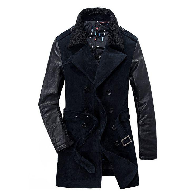 Men's Winter Coat, Famous Brand Fashion Warm Winter Coat Casual Windbreaker Jacket Navy, Coffee Colors