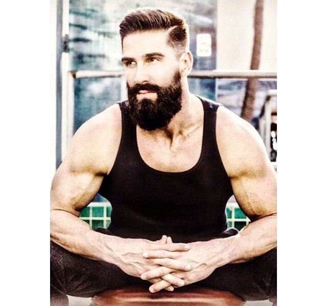 My perfect man. Muscles and a beard