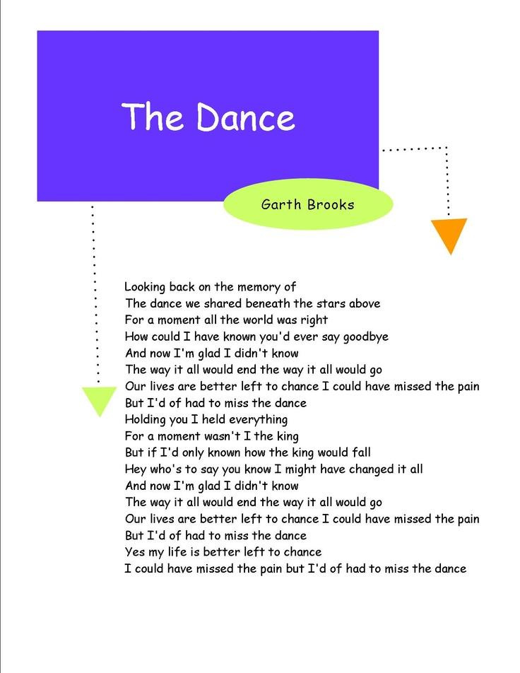 Lyric birds courting song lyrics : The 25+ best Garth brooks the dance ideas on Pinterest | Garth ...