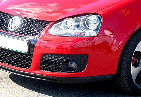 Hexagon Fog light Open grille for MK5 GTI & GLI, FOG LIGHTS NOT INCLUDED! Adds ventilation for your cold air intake since the grille is OPEN!