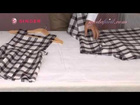 ¿Cómo cortar telas y ropa alineando cuadros y rayas? - YouTube