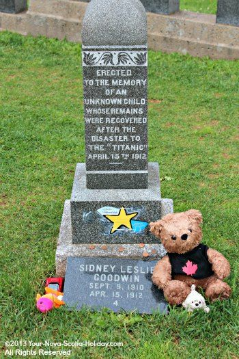 # 6 - This is the gravesite of the Titanic's Unknown Child in Fairview Lawn Cemetery in Halifax, Nova Scotia, Canada. It is remarkable that 95 years after the disaster, DNA testing was able to identify the child as Sidney Goodwin from Britain. The Titanic graves are very moving to visit!