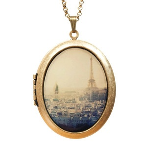 Heart In Paris Locket Necklace